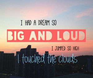 quote, clouds, and Dream image