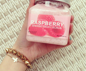 raspberry, pink, and body scrub image