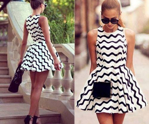 dress, style, and black and white image