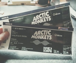 arctic monkeys, ticket, and music image