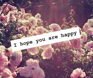 happy, flowers, and hope image