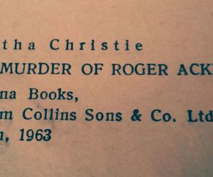 Agatha, book, and roger image