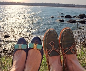 boat shoes, flats, and preppy image