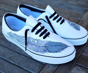 vans, shoes, and feather image