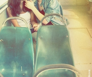 love, girl, and kiss image