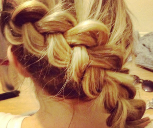 hair, hairstyles, and plait image