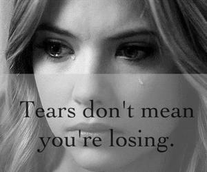 tears, quote, and sad image