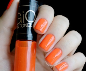 fluor, nails, and orange image