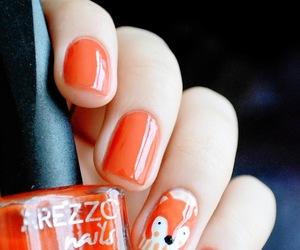 fox, nail art, and nails image