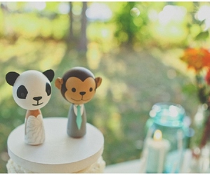 monkey, panda, and wedding image