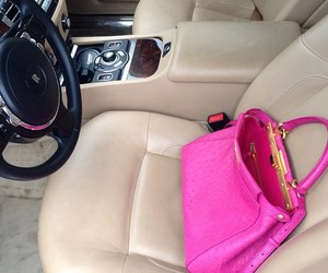pink, bag, and car image