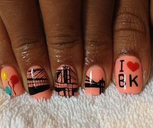 Brooklyn, nail art, and nails image