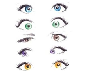 eyes, drawing, and pretty image