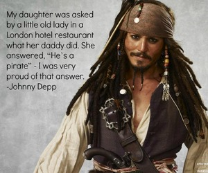captain jack sparrow, johnny depp, and pirate image
