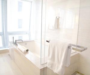 bathroom, luxury, and white image