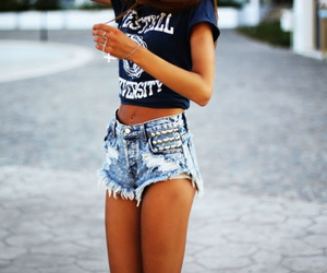 denim, sexy, and short image