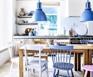 kitchen, blue, and design image