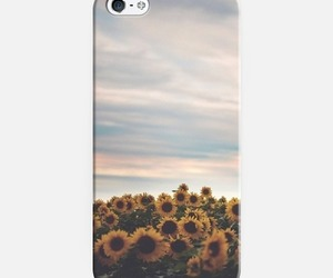 field, sky, and phone case image