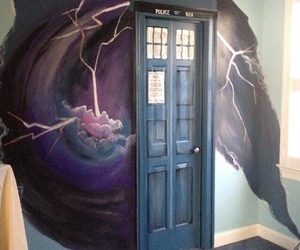 tardis, doctor who, and door image