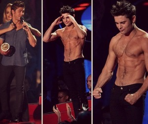 zac efron, Hot, and abs image