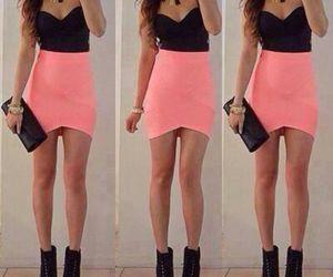 black, pink, and dress image