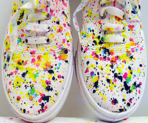 shoes, vans, and paint image