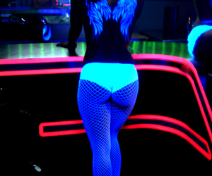 cool, fluorescent, and girl image