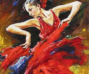 dance, woman, and painting image