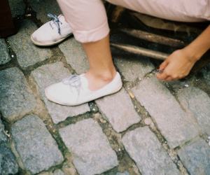 girl, feet, and shoes image