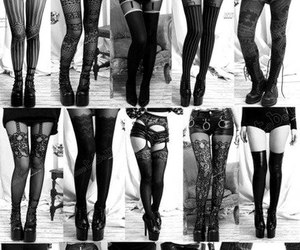 tights, legs, and black image