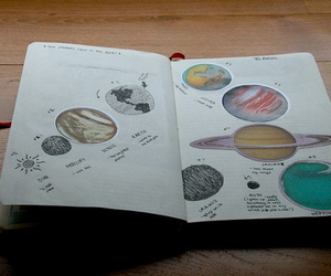 planet, book, and space image