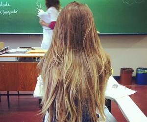 hair, girl, and school image