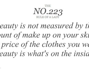 quote, rule of a lady, and beauty image