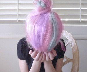 hair, girl, and pale image