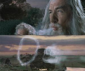 bilbo, gandalf, and LOTR image
