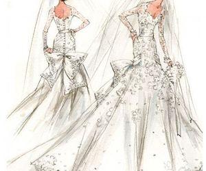 bride, design, and sketch image