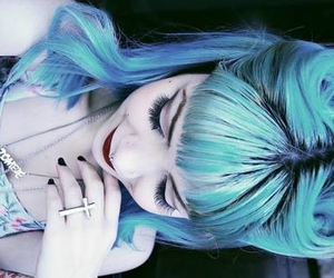 blue hair, hipster, and perfect image