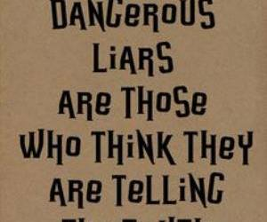 Liars, truth, and quote image