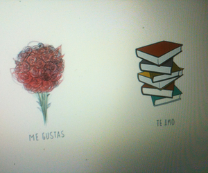flores, me gustas, and libros image