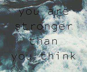 quotes, sea, and strong image