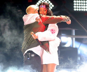 eminem, hug, and rihanna image