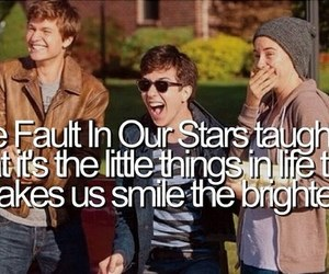 the fault in our stars, smile, and tfios image