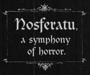 Nosferatu, horror, and vampire image