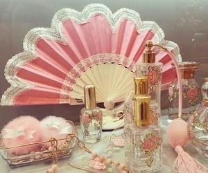 perfume, pink, and makeup image