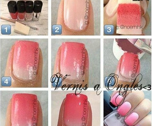 nails, diy, and ombre image