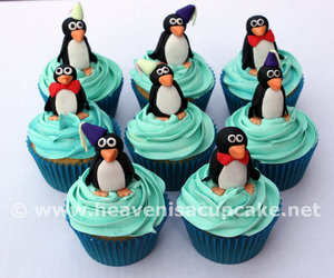 cup cakes, pinguinos, and cute image