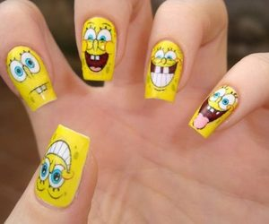 nails, spongebob, and bob esponja image