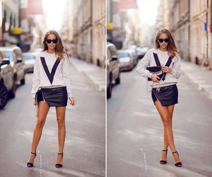 black, style, and v image