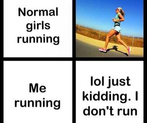 fitness, funny, and jogging image