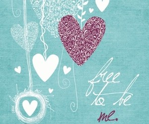 free, heart, and life image